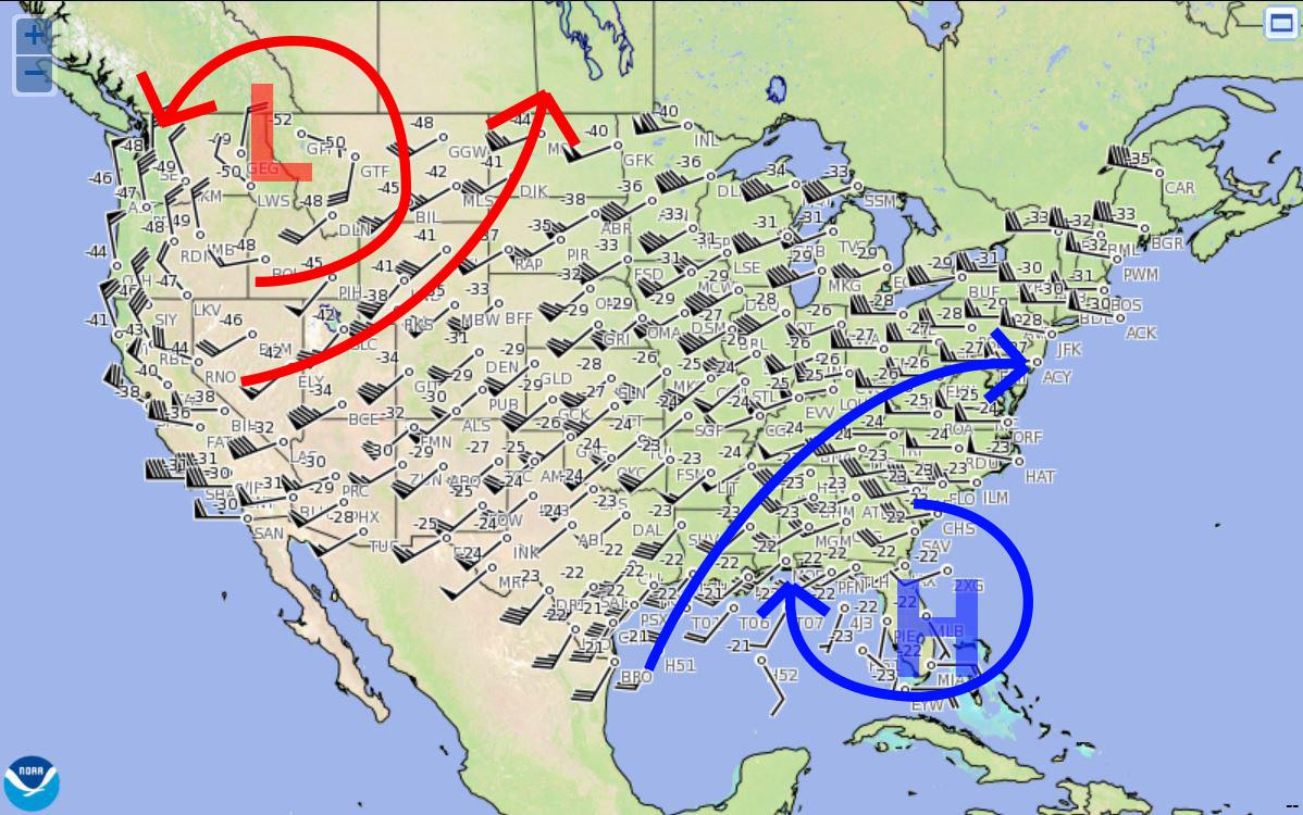 high and low pressure rotation