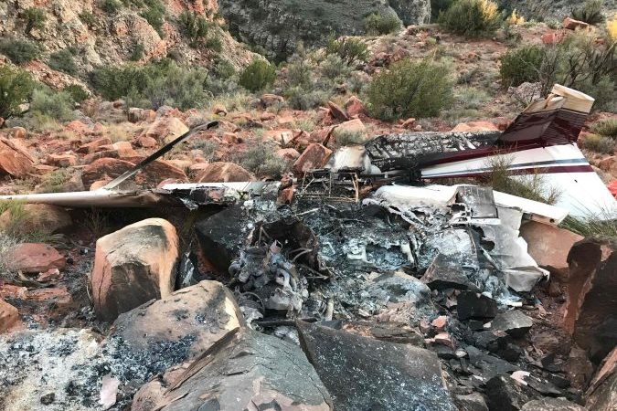 Cessna 172 Crash in Canyon